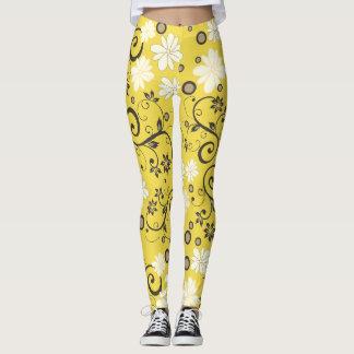Yellow Laggings Flower of May Leggings