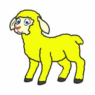 Yellow Lamb Photo Sculpture Magnet