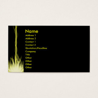 Yellow Lazer Business Card