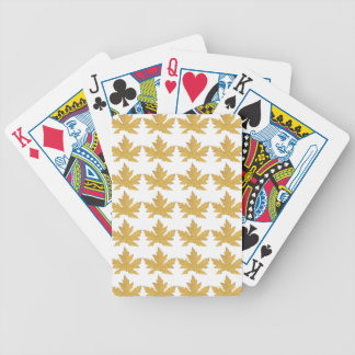 Yellow Leaf pattern Bicycle Playing Cards