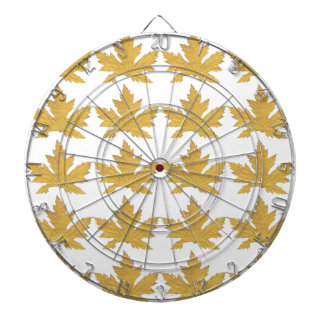 Yellow Leaf pattern Dartboard