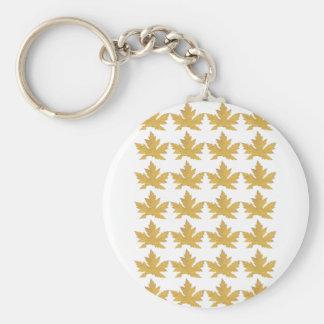 Yellow Leaf pattern Keychain