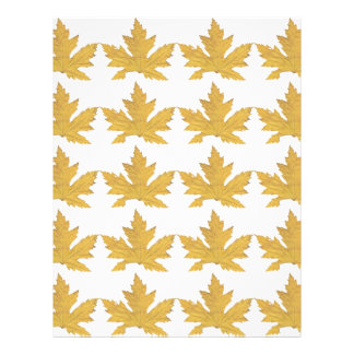 Yellow Leaf pattern Letterhead