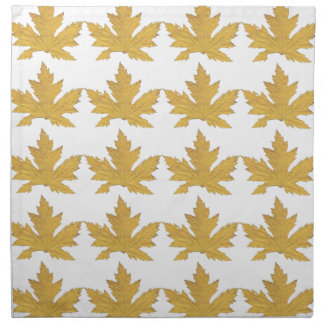 Yellow Leaf pattern Napkin