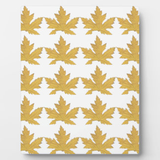 Yellow Leaf pattern Plaque
