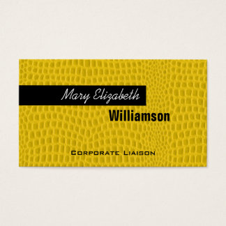 Yellow Leather Modern Professional Business Cards