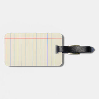 Yellow Legal Pad Luggage Tag