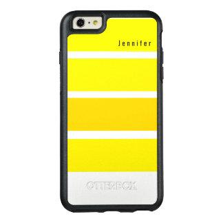 Yellow Lemon Bright Hues Monogram OtterBox iPhone 6/6s Plus Case