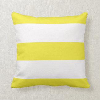 Yellow Lemon Broad Stripe Striped Stripes Pillow