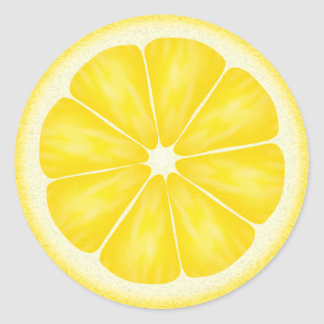 Yellow Lemon Citrus Fruit Classic Round Sticker
