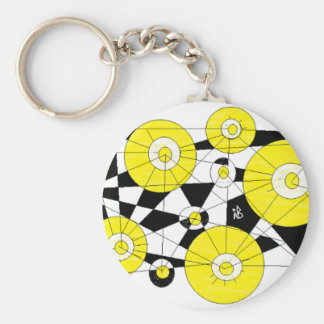 yellow lemon keychain