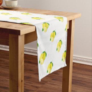 Yellow Lemon print art fruit watercolour Short Table Runner