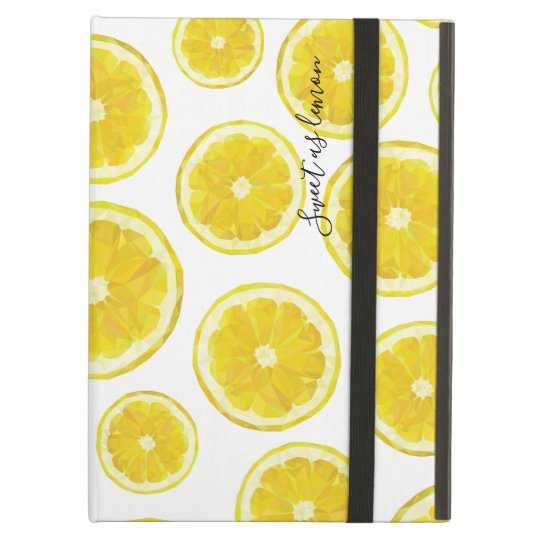 Yellow lemon slice hitech low poly design iPad air cover