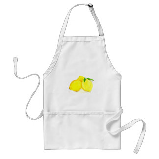 Yellow lemons fruits standard apron