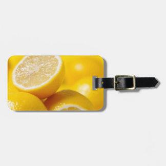 Yellow Lemons Luggage Tag