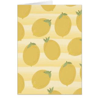 Yellow Lemons Summer Fruit Bright Birthday Party Card
