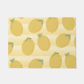 Yellow Lemons Summer Fruit Watercolor Fun Bright Doormat