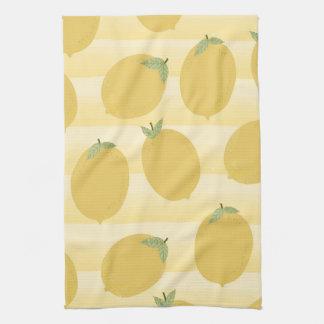 Yellow Lemons Summer Fruit Watercolor Fun Bright Kitchen Towel