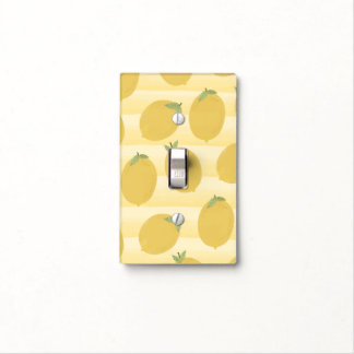 Yellow Lemons Summer Fruit Watercolor Fun Bright Light Switch Cover