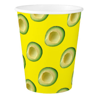 Yellow Let's Hear it for Avocados! Paper Cup