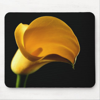 Yellow Lilly Flower Floral Pretty Elegant Mouse Pad
