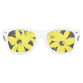 Yellow Lilly Flowers Kids Sunglasses