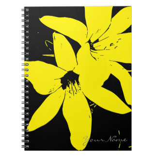 Yellow Lilly Flowers Notebook