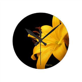 Yellow Lilly Wallclocks