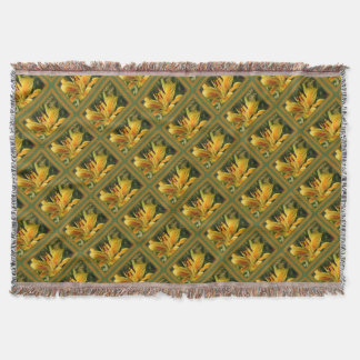 Yellow Lily Birthday Wishes Throw Blanket
