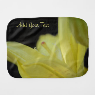 Yellow Lily by Shirley Taylor Burp Cloth