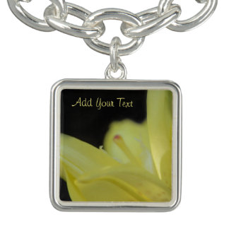 Yellow Lily by Shirley Taylor Charm Bracelet