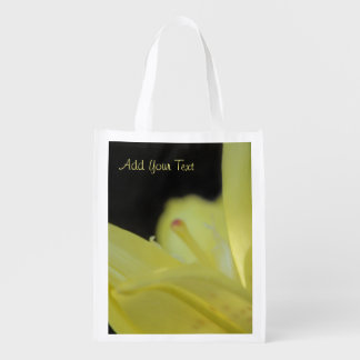 Yellow Lily by Shirley Taylor Reusable Grocery Bag