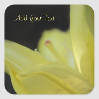 Yellow Lily by Shirley Taylor Square Sticker