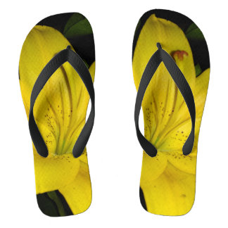 Yellow Lily Flip Flops