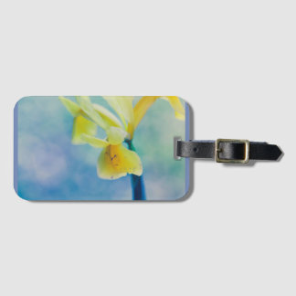 Yellow lily luggage tag