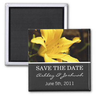 Yellow Lily  Save The Date Magnets