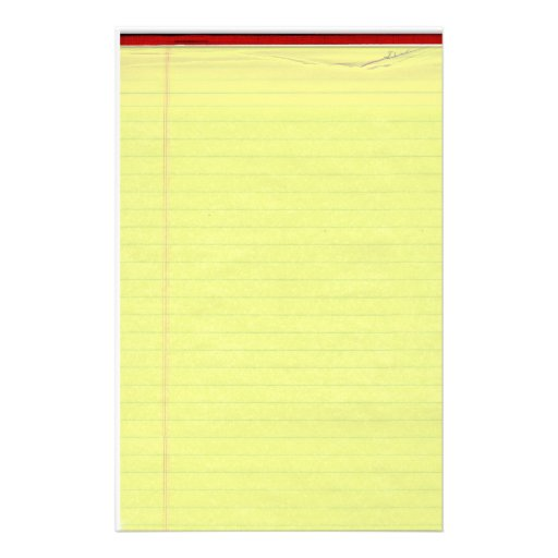 yellow lined paper