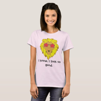 Yellow Lion in style with glasses T-Shirt