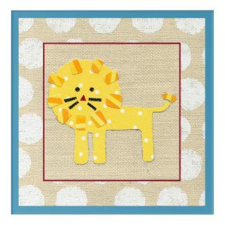 Yellow Lion with White Polka Dots Acrylic Print