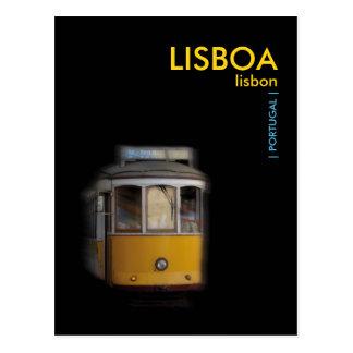Yellow Lisbon Tram - LISBOA Postcard