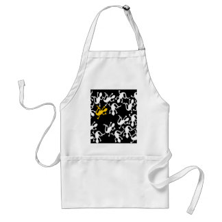 Yellow lizard pattern standard apron