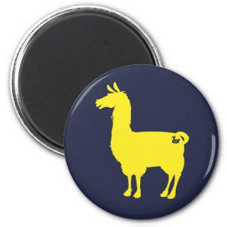Yellow Llama Magnet