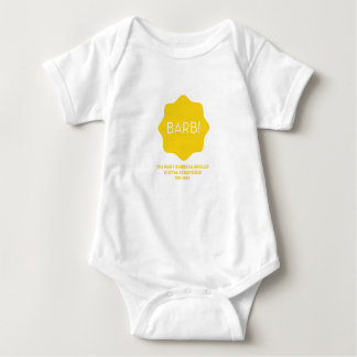 Yellow Logo Baby Bodysuit