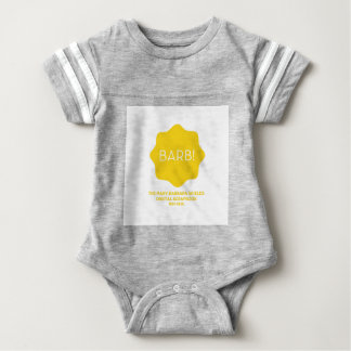 Yellow Logo Baby Bodysuit