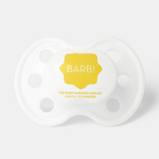 Yellow Logo Pacifiers