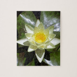 Yellow Lotus and lily pads Jigsaw Puzzle
