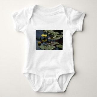 Yellow Lotus Waterlilies Baby Bodysuit