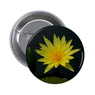 Yellow Lotus Waterlily 2 Inch Round Button