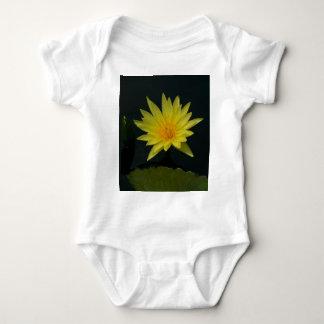 Yellow Lotus Waterlily Baby Bodysuit