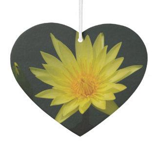 Yellow Lotus Waterlily Car Air Freshener